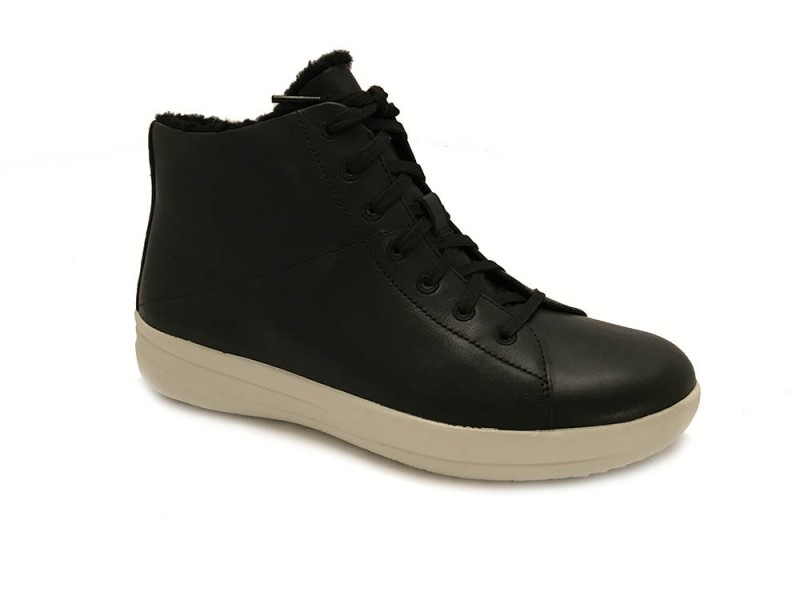 I74-001 FitFlop™ Zwarte FitFlop™ F-Sporty™ High-Top Sneakers
