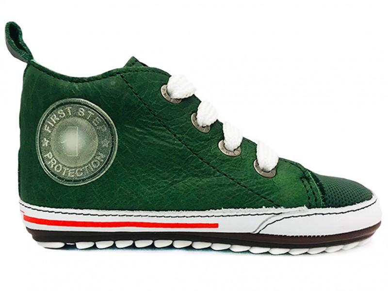 BP9S004-I ShoesMe Groene ShoesMe Veterschoenen Baby Proof