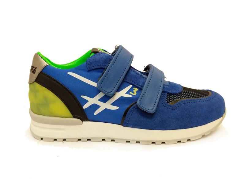H1798-44CO-65FL Hip Blauwe Hip Klittenbandschoenen