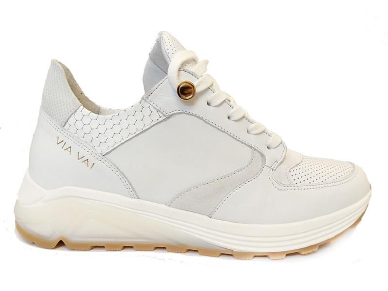 5207067-Bianco Via Vai Witte ViaVai Sneakers Honey Combi