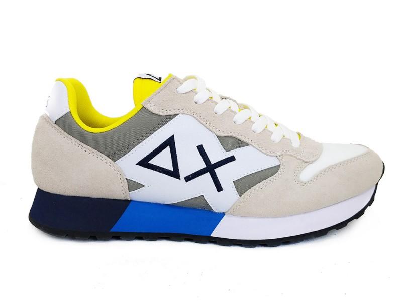 Z31111-Bianco SUN68 Beige SUN68 Sneakers Jaki Bicolor Bianco