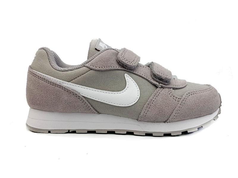 CD8525-001 Nike Grijze Nike Sneakers MD Runner Kids Klittenband