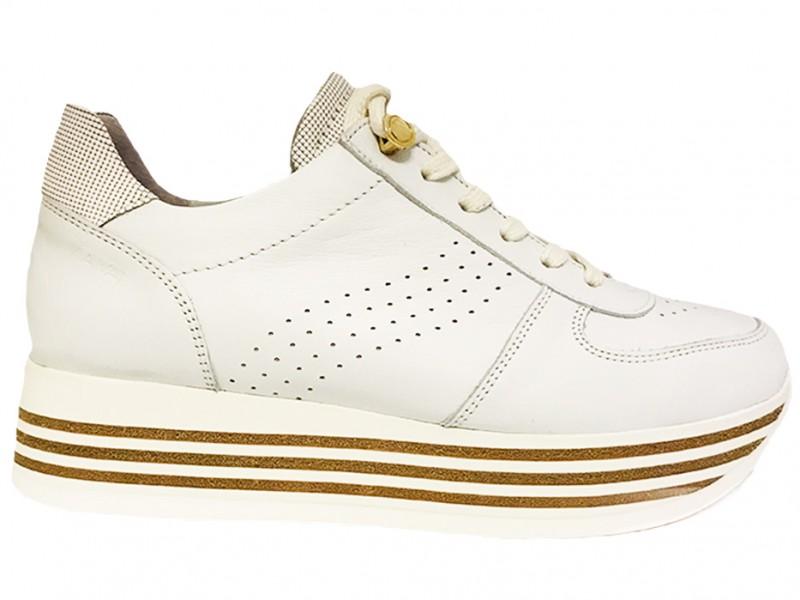 5212070-Bianco Via Vai Witte Via Vai Sneakers Vitello Bianco Platino