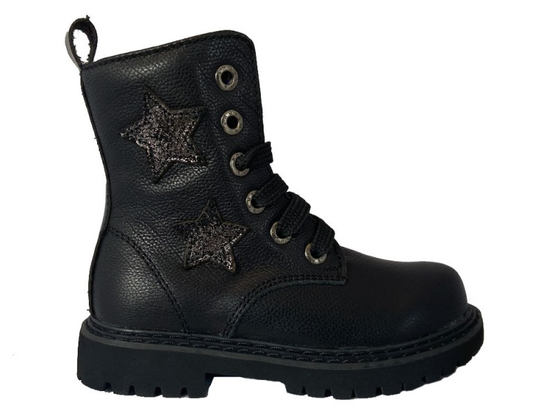 TE20W060-A ShoesMe Zwarte Shoesme Veterboots Sterren