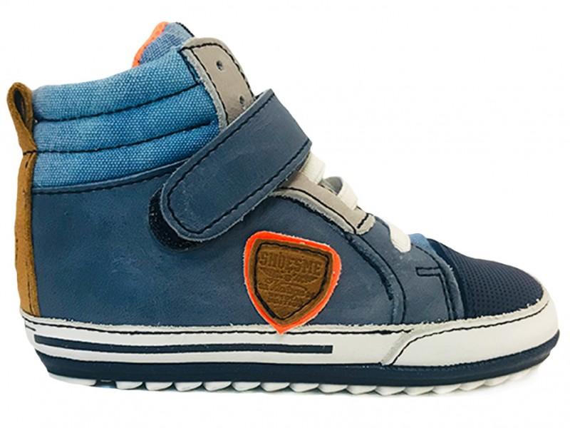 BP9S015-A ShoesMe Blauwe ShoesMe Veterschoenen Baby Proof