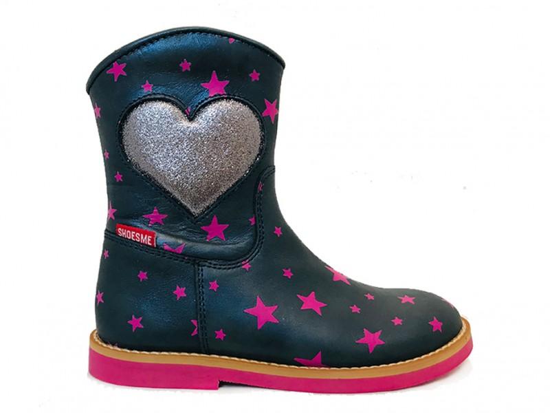 SI8W080-D ShoesMe Paarse ShoesMe Laarsjes Sterren