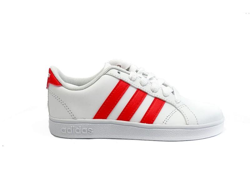 F36197 Adidas Witte adidas Sneakers Roze Strepen Baseline Kids