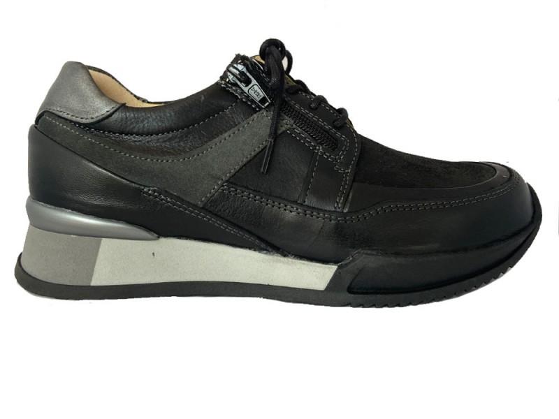 0588024-000 Wolky Zwarte Wolky Veterschoenen E Walk Stretch