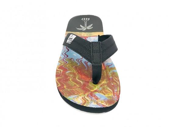 Récif Noir Flip-flops Imprime Ht Palmiers Aqua NzmpL